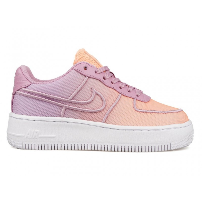 Nike Women's Air Force 1 Low Upstep BR 833123-500 White ,Blue