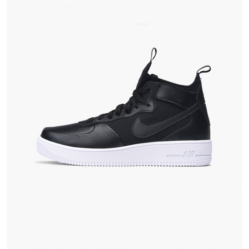 Nike Women's Air Force 1 Ultraforce Mid 864025-001 Black ,White