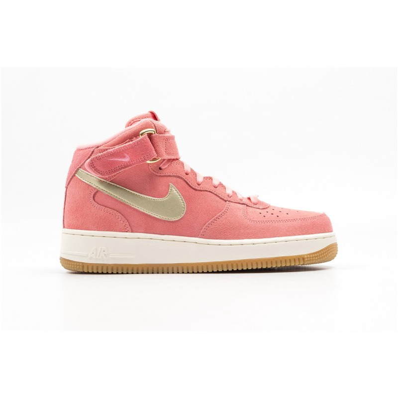 Nike Women's Air Force 1 '07 Mid Seasonal 818596-800 Gold