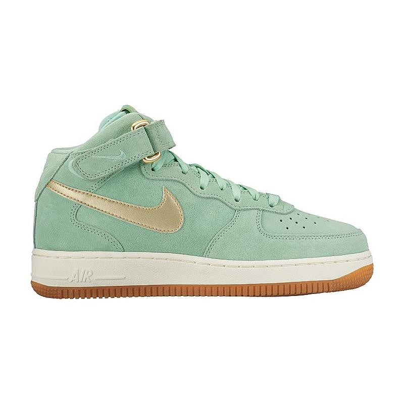 Nike Women's Air Force 1 '07 Mid Seasonal 818596-300 Green ,Gold