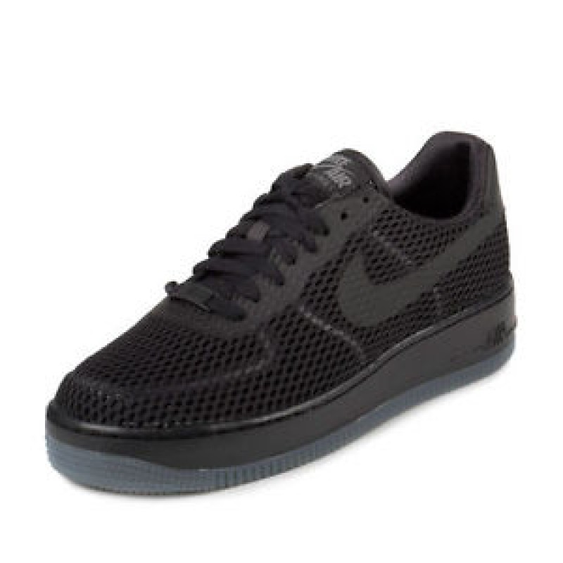 Nike Women's Air Force 1 Low Upstep BR 833123-001 Black ,Grey