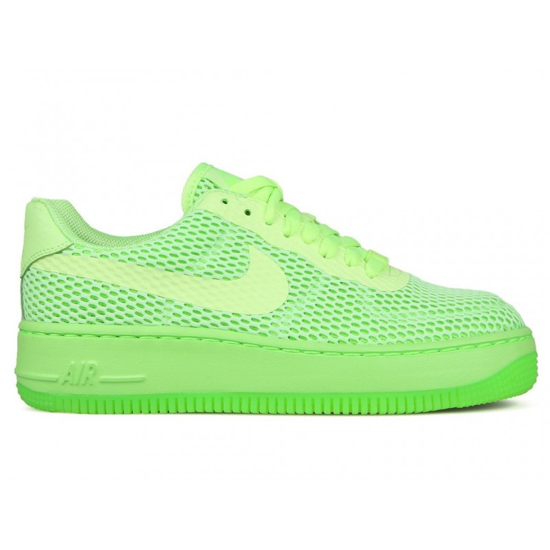 Nike Women's Air Force 1 Low Upstep BR 833123-300 Green