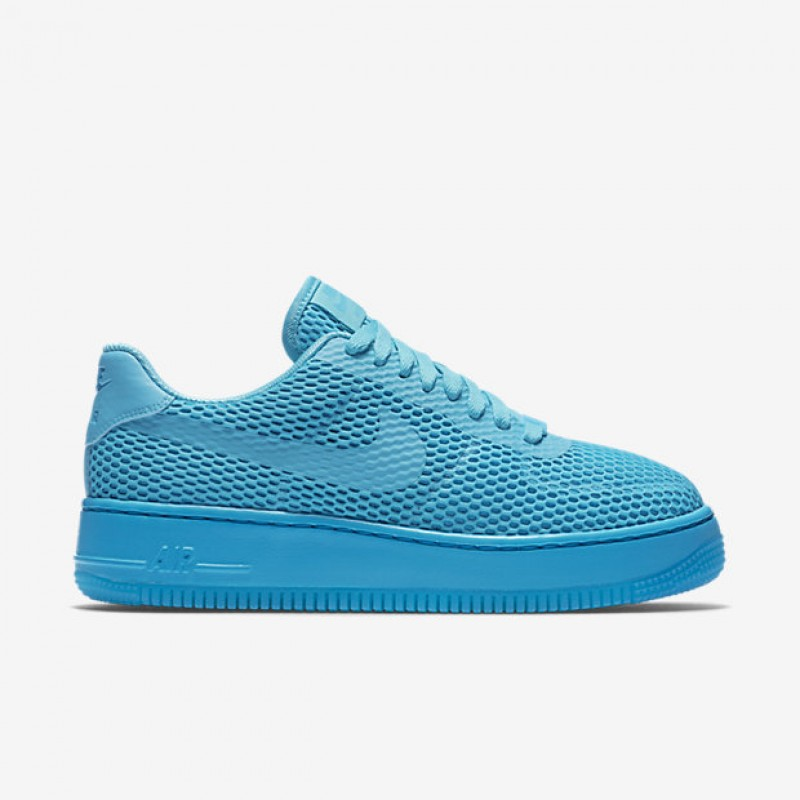 Nike Women's Air Force 1 Low Upstep BR 833123-400 Blue