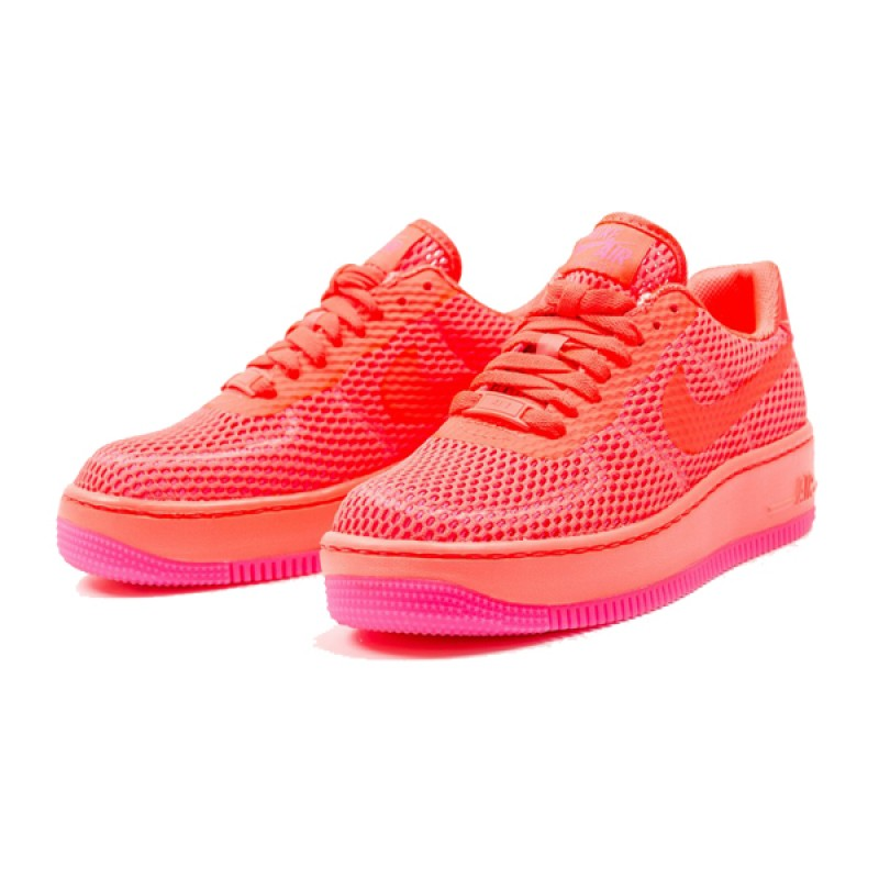 Nike Women's Air Force 1 Low Upstep BR 833123-800 Pink