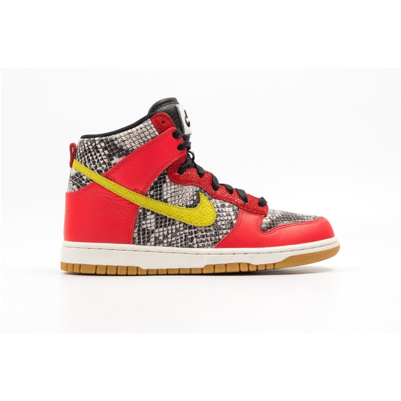 Nike Women's Dunk High LXPython 881233-800 Orange ,Black
