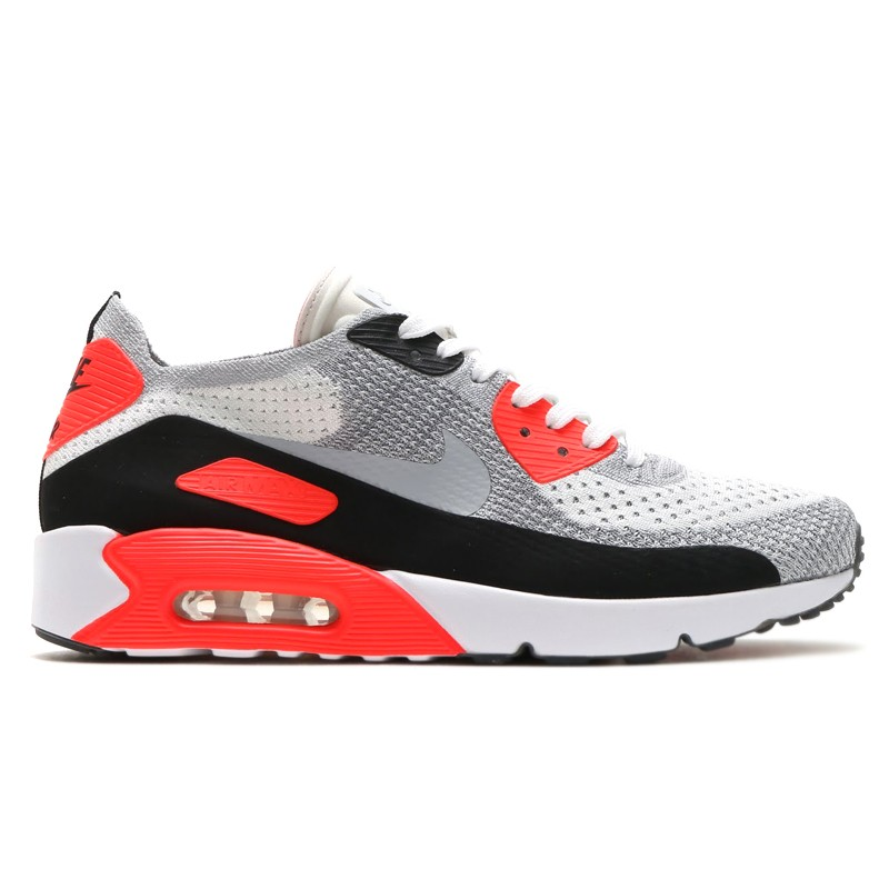 Nike Air Max 90 Ultra 2.0 Flyknit 875943-100 White ,Grey
