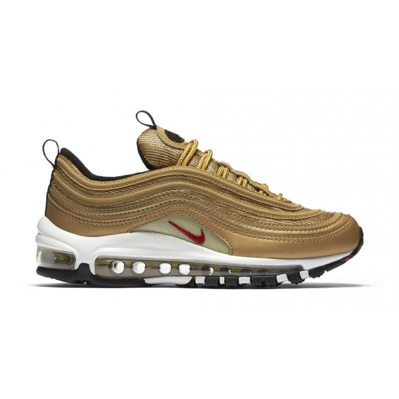 Nike Air Max 97 OG QS 884421-700 Gold ,Red ,White ,Black
