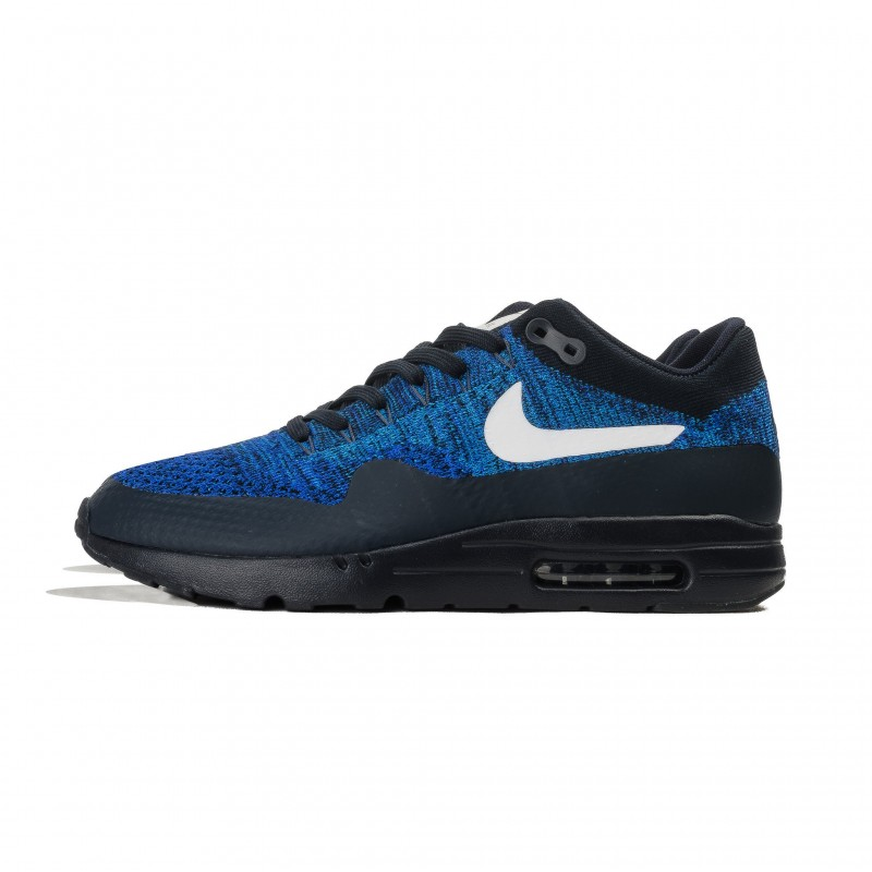 Nike Air Max 1 Ultra Flyknit 843384-401 White ,Blue