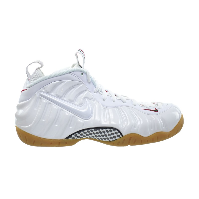 Nike Air Foamposite Pro 624041-102 White ,Red ,Green