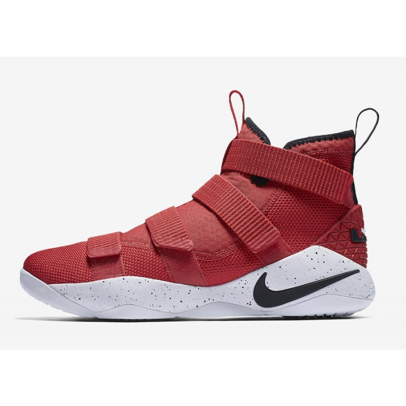 Nike Lebron Soldier XI 897644-601 Red ,Black ,White