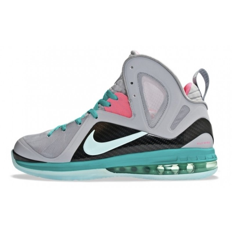 Nike Air Max LeBron 9 P.S. EliteSouth Beach 516958-001 Grey ,Green ,Pink