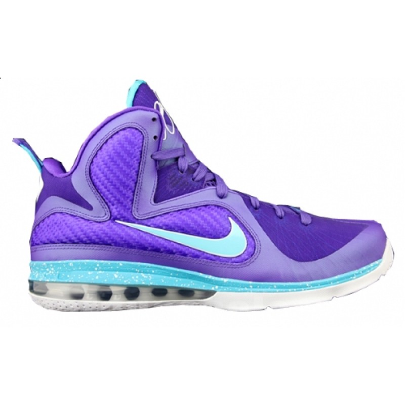 Nike Air Max LeBron 9Summit Lake Hornets469764-500 Purple ,Blue ,White