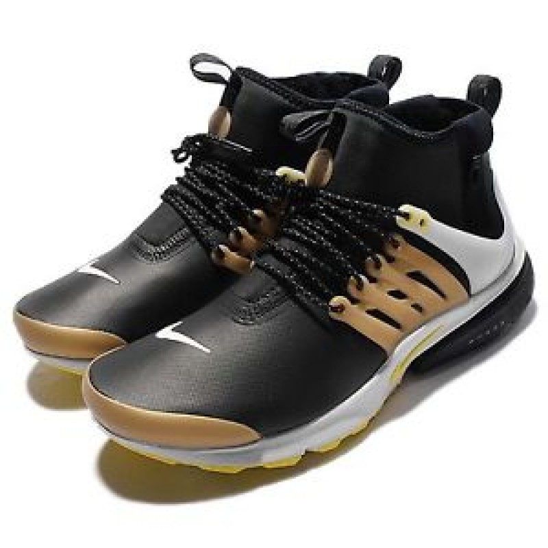 Nike Air Presto Mid Utility 859524-002 Black ,Yellow ,Gold