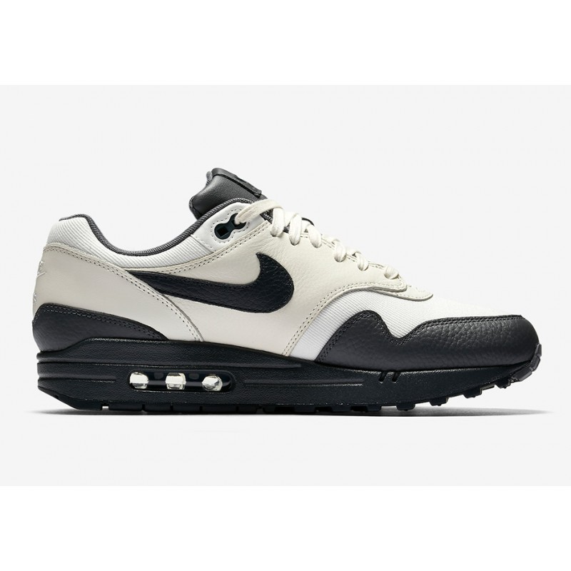 Nike Air Max 1 Premium Men's Low Sneakers 875844-100 Grey