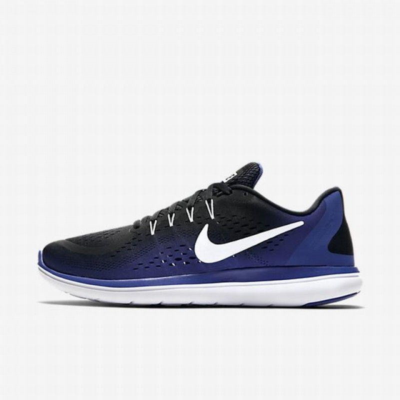 Nike Flex 2017 RN 898457-004 Black ,White ,Blue