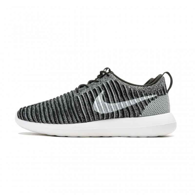 Nike Roshe Two Flyknit 844833-007 Black ,White ,Grey ,Green