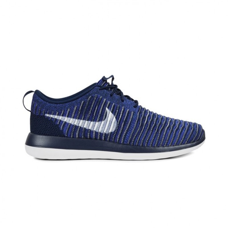 Nike Roshe Two Flyknit 844833-402 White ,Blue