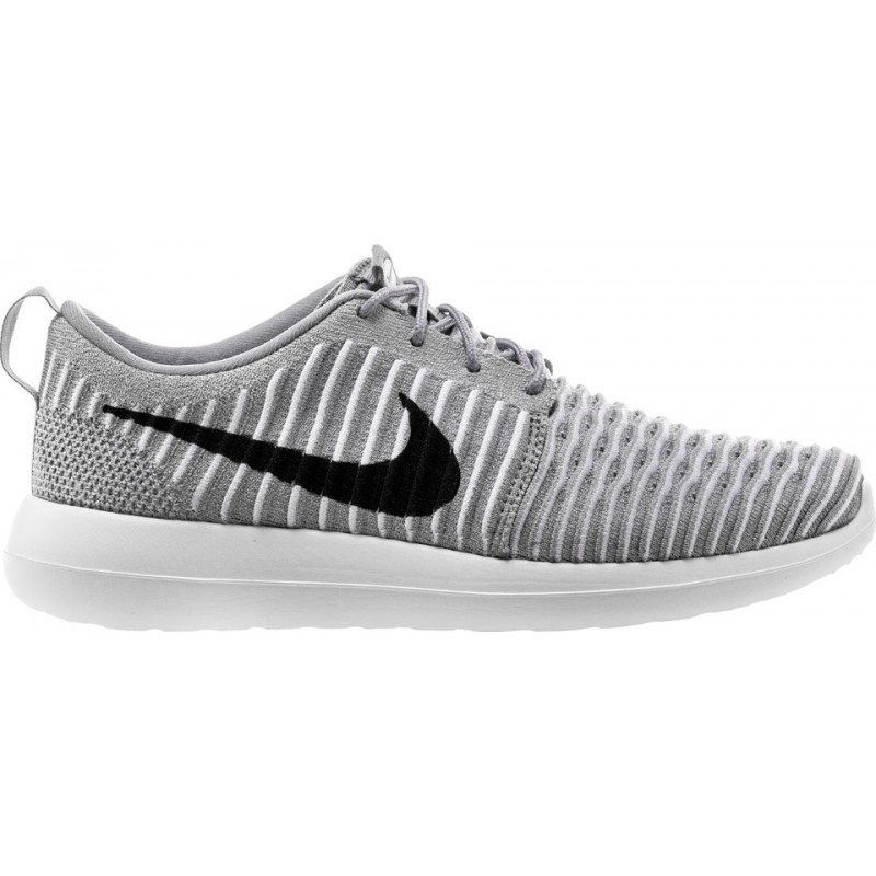 Nike Roshe Two Flyknit 844833-002 Grey ,Black ,White ,Blue