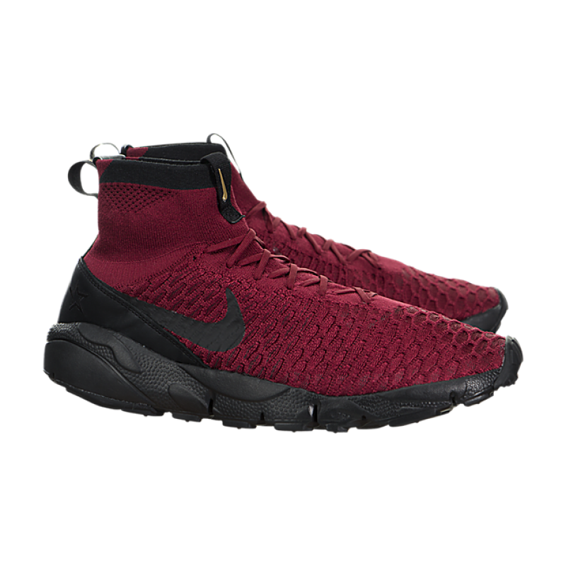 Nike Air Footscape Magista Flyknit FC 830600-600 Red ,Black ,Gold