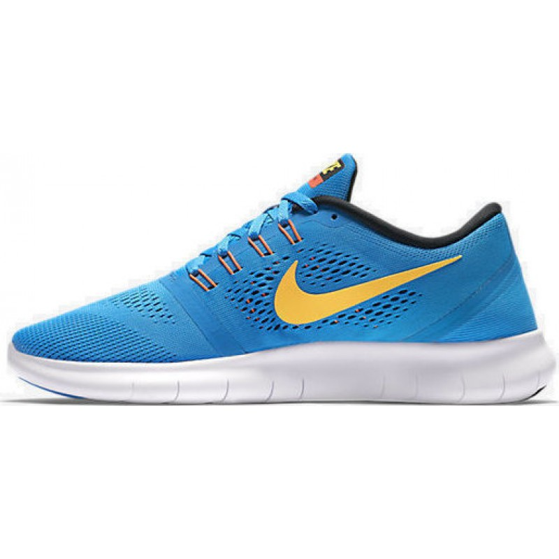 Nike Free RN 831508-402 Orange ,Black ,Blue