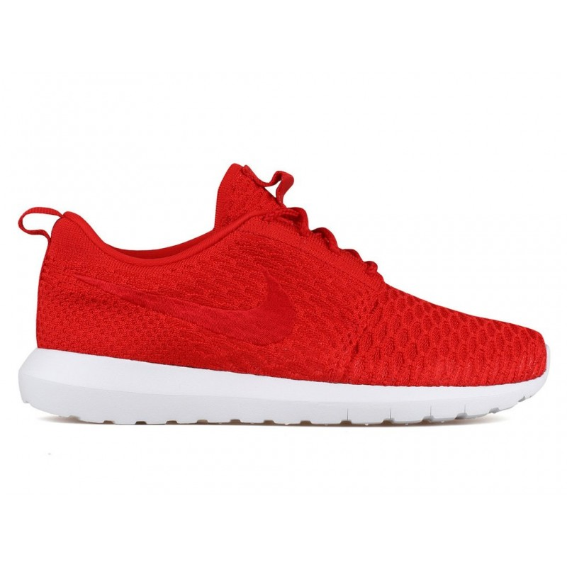 Nike Roshe NM Flyknit 677243-603 Red ,White