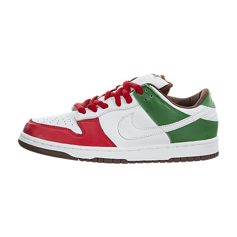 Nike SB Dunk Low ProCinco de Mayo 304292-113 White ,Red ,Green