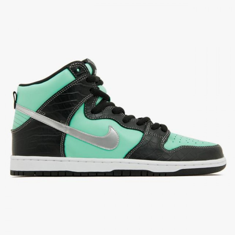 Nike SB Dunk High PremiumTiffany 653599-400 Black